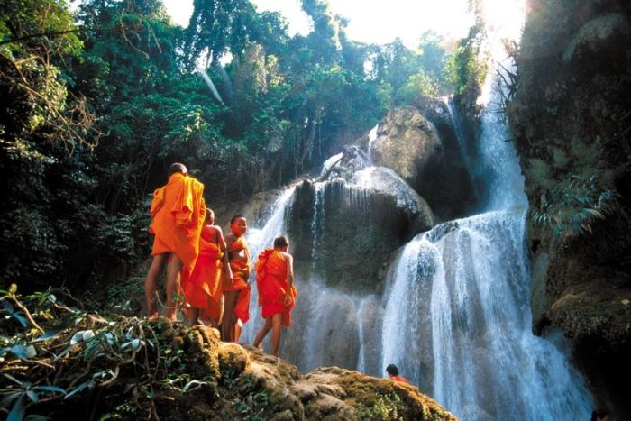 indocina cosa vedere cascata di Kuang Si, Cambogia