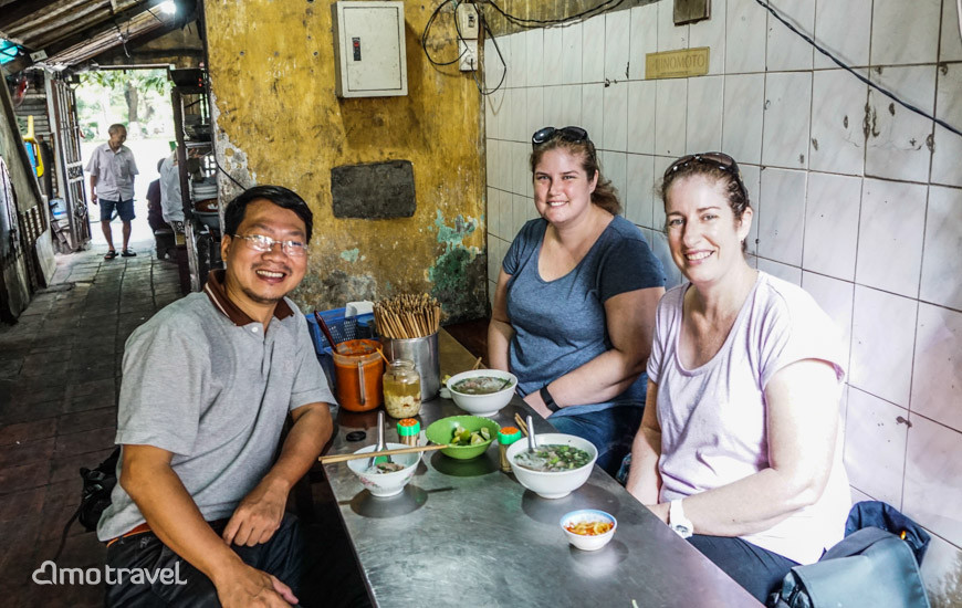 Cibo di strada in Hanoi Vietnam del Nord